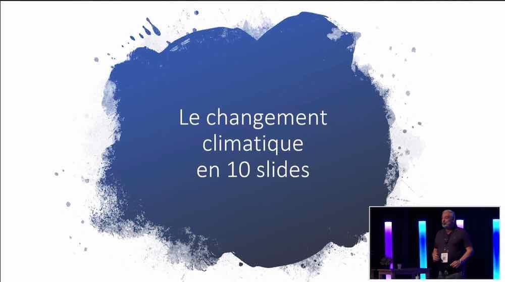 Tristan Nitot explique le changement climatique en 10 visuels et 10 minutes
